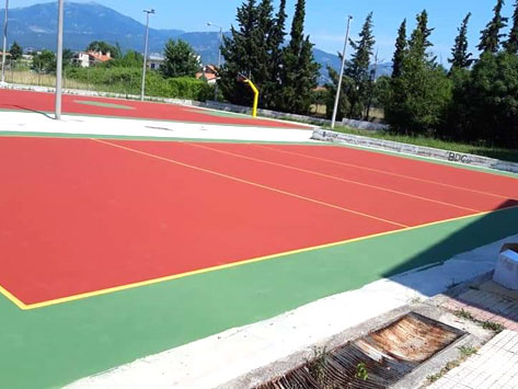 CONCETRATED ELASTOTURF 852 - Colored, concentrated acrylic coating
