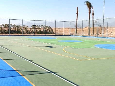 OUTDOOR ACRYLIC SPORTS FLOORING COMPLETED