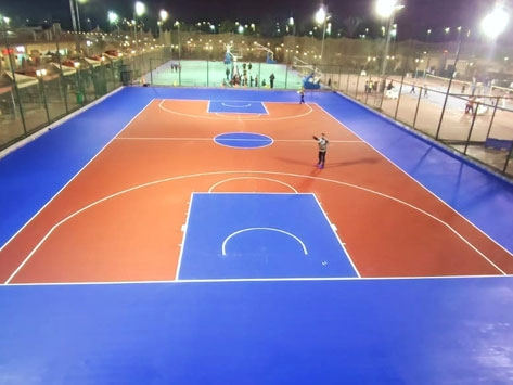 OUTDOOR ACRYLIC SPORTS FLOORING COMPLETED, YET ANOTHER ONE IN EGYPT