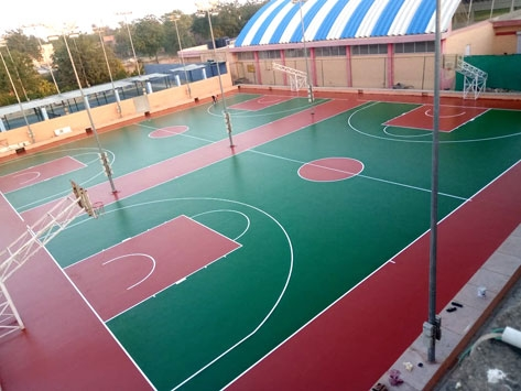 OUTDOOR POLYURETHANE SPORTS COURTS