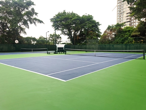 CHINA-OUTDOOR TENNIS COURTS