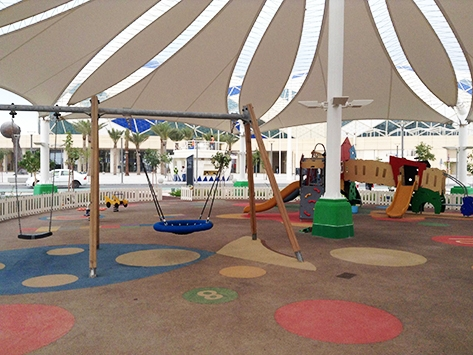PLAYGROUND FLOORING IN AL LUSAIL SPORTS CLUB - DOHA, QATAR