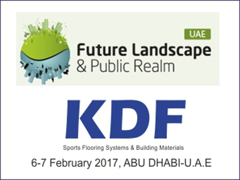 KDF SPONSOR OF SUMMIT FUTURE LANDSCAPE AND PUBLIC REALM IN ABU DHABI 2017
